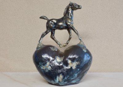 1545-Paard op hart.