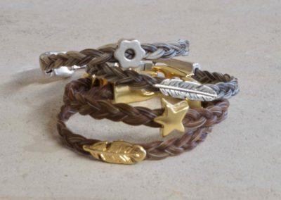 1601-Armbanden van paardenhaar.