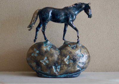 1575-Paard op hart.
